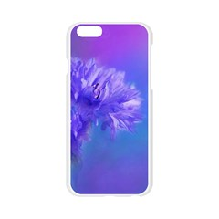 Purple Cornflower Floral  Apple Seamless iPhone 6/6S Case (Transparent)
