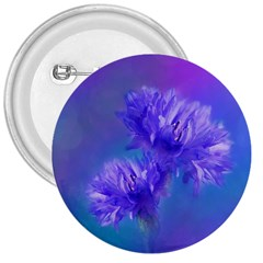 Flowers Cornflower Floral Chic Stylish Purple  3  Buttons