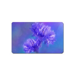 Flowers Cornflower Floral Chic Stylish Purple  Magnet (Name Card)