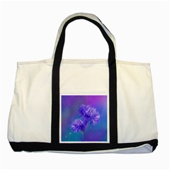 Flowers Cornflower Floral Chic Stylish Purple  Two Tone Tote Bag