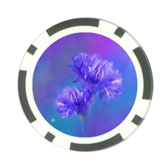 Flowers Cornflower Floral Chic Stylish Purple  Poker Chip Card Guards (10 pack)