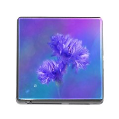 Flowers Cornflower Floral Chic Stylish Purple  Memory Card Reader (Square)