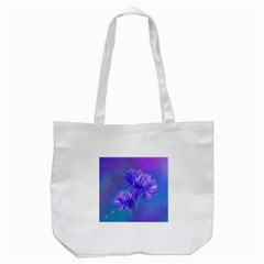 Flowers Cornflower Floral Chic Stylish Purple  Tote Bag (White)