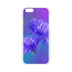 Flowers Cornflower Floral Chic Stylish Purple  Apple Seamless iPhone 6/6S Case (Transparent)