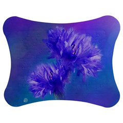Flowers Cornflower Floral Chic Stylish Purple  Jigsaw Puzzle Photo Stand (bow)