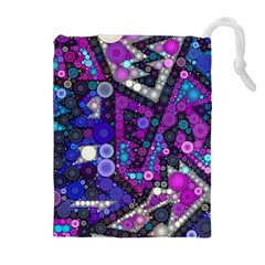 Hipster Bubbes Drawstring Pouches (extra Large)