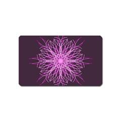 Pink Kaleidoscope Flower Mandala Art Magnet (name Card)