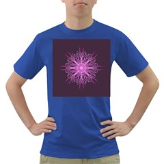 Pink Kaleidoscope Flower Mandala Art Dark T Shirt