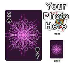 Pink Kaleidoscope Flower Mandala Art Playing Cards 54 Designs