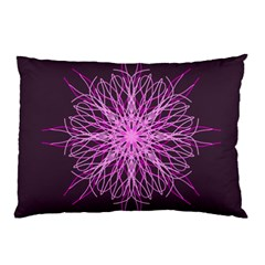 Pink Kaleidoscope Flower Mandala Art Pillow Case
