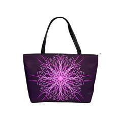 Pink Kaleidoscope Flower Mandala Art Shoulder Handbags