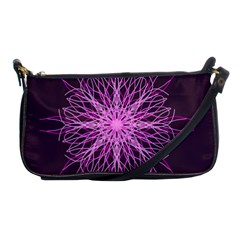 Pink Kaleidoscope Flower Mandala Art Shoulder Clutch Bags