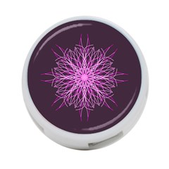 Pink Kaleidoscope Flower Mandala Art 4 Port Usb Hub (two Sides)