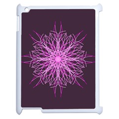 Pink Kaleidoscope Flower Mandala Art Apple Ipad 2 Case (white)