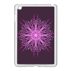 Pink Kaleidoscope Flower Mandala Art Apple Ipad Mini Case (white)