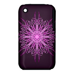 Pink Kaleidoscope Flower Mandala Art Apple Iphone 3g/3gs Hardshell Case (pc+silicone)