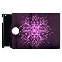 Pink Kaleidoscope Flower Mandala Art Apple Ipad 2 Flip 360 Case