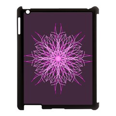 Pink Kaleidoscope Flower Mandala Art Apple Ipad 3/4 Case (black)