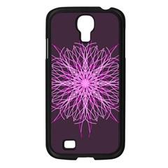 Pink Kaleidoscope Flower Mandala Art Samsung Galaxy S4 I9500/ I9505 Case (black)