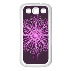 Pink Kaleidoscope Flower Mandala Art Samsung Galaxy S3 Back Case (white)