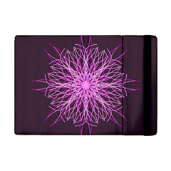 Pink Kaleidoscope Flower Mandala Art Ipad Mini 2 Flip Cases
