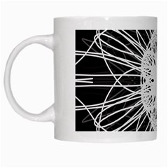 Black And White Flower Mandala Art Kaleidoscope White Mugs