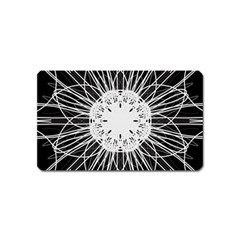 Black And White Flower Mandala Art Kaleidoscope Magnet (name Card)