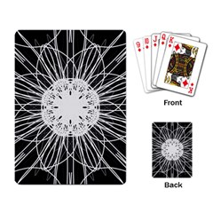 Black And White Flower Mandala Art Kaleidoscope Playing Card