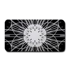 Black And White Flower Mandala Art Kaleidoscope Medium Bar Mats