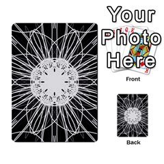 Black And White Flower Mandala Art Kaleidoscope Multi-purpose Cards (Rectangle)