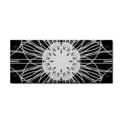 Black And White Flower Mandala Art Kaleidoscope Hand Towel