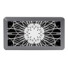 Black And White Flower Mandala Art Kaleidoscope Memory Card Reader (mini)
