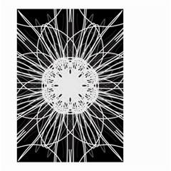 Black And White Flower Mandala Art Kaleidoscope Small Garden Flag (two Sides)