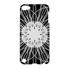 Black And White Flower Mandala Art Kaleidoscope Apple Ipod Touch 5 Hardshell Case