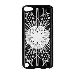 Black And White Flower Mandala Art Kaleidoscope Apple Ipod Touch 5 Case (black)