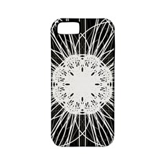 Black And White Flower Mandala Art Kaleidoscope Apple Iphone 5 Classic Hardshell Case (pc+silicone)