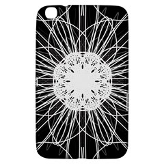 Black And White Flower Mandala Art Kaleidoscope Samsung Galaxy Tab 3 (8 ) T3100 Hardshell Case