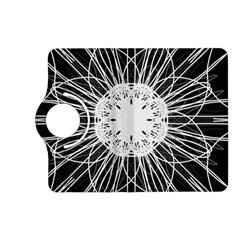 Black And White Flower Mandala Art Kaleidoscope Kindle Fire Hd (2013) Flip 360 Case