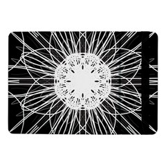 Black And White Flower Mandala Art Kaleidoscope Samsung Galaxy Tab Pro 10 1  Flip Case