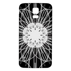 Black And White Flower Mandala Art Kaleidoscope Samsung Galaxy S5 Back Case (white)