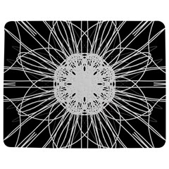 Black And White Flower Mandala Art Kaleidoscope Jigsaw Puzzle Photo Stand (rectangular)