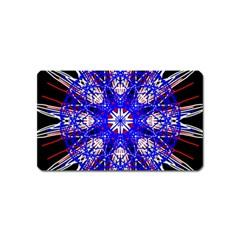 Kaleidoscope Flower Mandala Art Black White Red Blue Magnet (name Card)