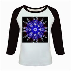 Kaleidoscope Flower Mandala Art Black White Red Blue Kids Baseball Jerseys