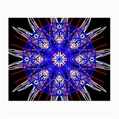 Kaleidoscope Flower Mandala Art Black White Red Blue Small Glasses Cloth (2 Side)