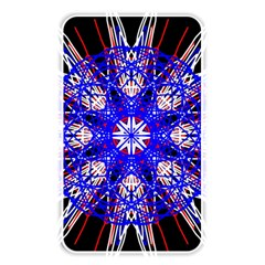 Kaleidoscope Flower Mandala Art Black White Red Blue Memory Card Reader