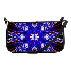 Kaleidoscope Flower Mandala Art Black White Red Blue Shoulder Clutch Bags