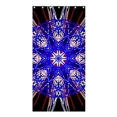Kaleidoscope Flower Mandala Art Black White Red Blue Shower Curtain 36  X 72  (stall)