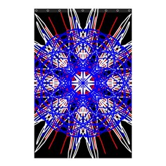Kaleidoscope Flower Mandala Art Black White Red Blue Shower Curtain 48  X 72  (small)