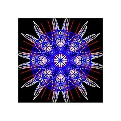 Kaleidoscope Flower Mandala Art Black White Red Blue Acrylic Tangram Puzzle (4  x 4 )