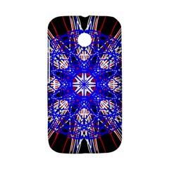 Kaleidoscope Flower Mandala Art Black White Red Blue Motorola Moto E